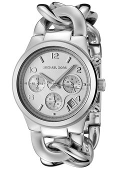 Michael Kors Women's Runway Twist Chronograph Stainless Steel Silver-Tone DialMichael Kors MK3149 Watch