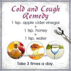 Cold and cough remedy - Well i tried this after 2 painful days. Dry Cough, Headache and Fever. After 20 minutes the Headache was gone =) the cough still there (not as much and it does say to drink a day so I will try before bed again) Cough Remedies For Adults, Cold And Cough Remedies, Cold Home Remedies, Flu Remedies, Natural Home Remedies, Natural Healing, Herbal Remedies, Health Remedies, Ayurvedic Home Remedies