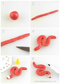How to make an easy fondant worm - fun icing bug toppers for decorating cakes and cupcakes - Eats Amazing UK