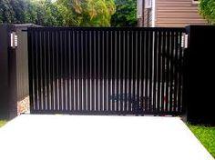 vertical slats for side gate