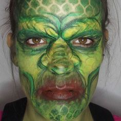 Sea Monster Halloween makeup. Creature of the Black Lagoon inspired