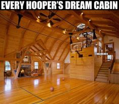 Lots of people have basketball hopes on their garages, letting them play some driveway hoops, but these homes have full-fledged indoor basketball courts. Home Basketball Court, Basketball Bedroom, Basketball Is Life, Basketball Tips, Indiana Basketball, Basketball Scoreboard, Basketball Academy, Basketball Legends, Sports Court