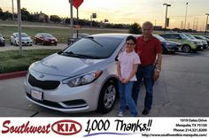 https://flic.kr/p/K3p54Q | Happy Anniversary to Jose  on your #Kia #Forte from Ash Chowdhury at Southwest Kia Mesquite! | deliverymaxx.com/DealerReviews.aspx?DealerCode=VNDX