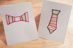 Easy Embroidered Cards Craft for Kids