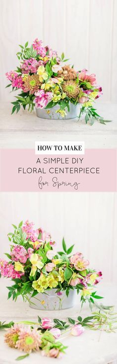 How to Make a Beautiful Floral Arrangement for Spring | spring floral arrangements | how to arrange flowers | floral arrangement ideas for spring | DIY floral arrangements | how to make a floral arrangement | decorating with flowers || Glitter, Inc.