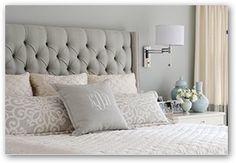 Love this headboard style. DIY? (from http://www.ramblingrenovators.ca/2013/10/etsy-art-for-bedroom.html)