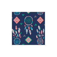 Tissu coton What a gem - Navy Dreamcatchers x 10 cm
