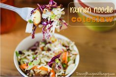 Ramen Noodle Coleslaw - Tangy, crunchy coleslaw with tons of flavor. A perfect side dish for cookouts and parties!