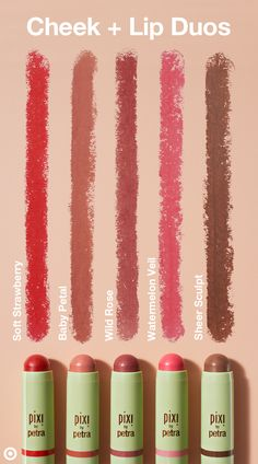 From classic red to light pink to bronze, Pixi Multibalm lipstick and blush duos deliver sheer, buildable color and mega hydration all in one. The crème-to-powder formula has a silky, lightweight texture and comes in five moisturizing shades—they're all you need for a fresh pop of color. Bonus: The moisture boost comes from natural ingredients like aloe vera, shea butter and rose hip oil.