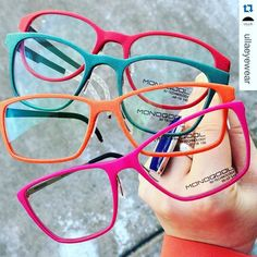 Monoqool spring colors at @ullaeyewear Thank you for the picture…