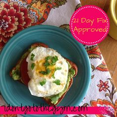 California Avocado Toast - & it's 21 Day Fix Approved!