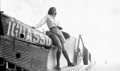 1930 Aviatrix, Aloha Wanderwell standing on the plane she flew in the Matto Grosso, & The River of Death, in Brazil., An Incredible Journey.