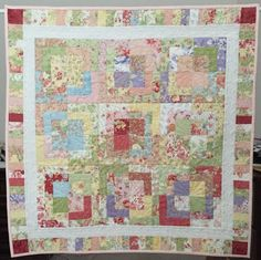 Log Cabin Variation Block Quilt Wall Hanging or by backporchquilts
