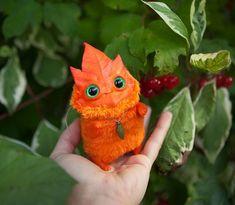 OOAK art toy Autumn Leaf spirit by Furrykami-creatures on DeviantArt