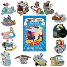 Your WDW Store - Disney Mystery Pin - Attraction Vehicles - 2 Random