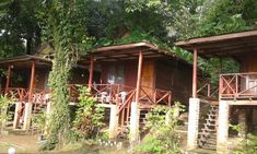 These bungalows are a bit more rustic, but very appealing as they have big decks. You can relax and survey the many islands dotting the bay in front of you. #kohyaonoi #kohyao #kohyaonoithailand Big Deck, Kayak Adventures, Holiday Resort, Phuket Thailand, Krabi, Travel Tours, Bungalows, Kayaking, Adventure Travel