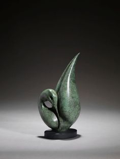 Bronze Animal Form: Abstract sculpture by artist Simon Gudgeon titled: 'Reflection - The Collection' £3,600