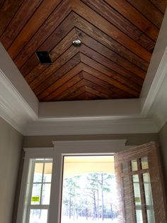 Foyer~Penny Width Pine Paneling~Tongue & Groove Ceiling