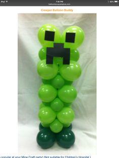 Minecraft balloon buddy. Www.balloonbouquetsplus.com