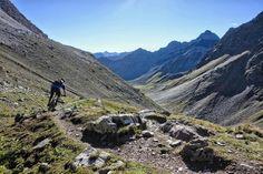 Dropping in on the BikeTicket2Ride tour, Lenzerheide, Switzerland. Photo: Greg Heil