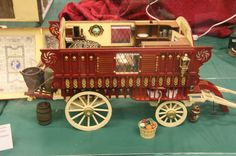 Gypsy Caravan wagon. Brian Long Fall 2007 Seattle Dollhouse Miniature Show.  Minatures.about.com