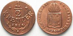 1816 Haus Habsburg ÖSTERREICH K.u.K. 1/2 Kreuzer 1816 A FRANZ I. Kupfer ERHALTUNG!!! # 95470 vz-st