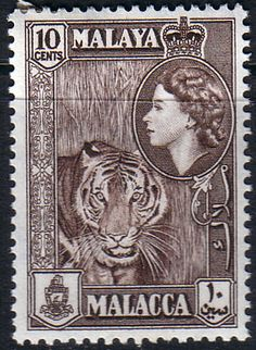 Malay State of Malacca 1957 SG 44 Tiger Fine Mint SG 44 Scott 50 Other British Commonwealth Stamps for sale here