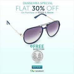 d5d87c27a2a Dussehra Special Offer! Get 30% Off + FREE Silver Coin on purchase of Rs