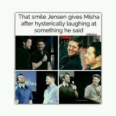 love the show Jensen Ackles, Jensen And Misha, Misha Collins, Dean Winchester, Spn Memes, Supernatural Destiel, Cockles, Super Natural, Superwholock