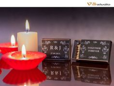 Printable Custom Designed Matchbox Labels for Wedding от VSstudio