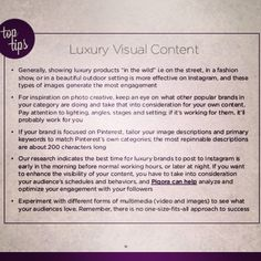 Why are #luxury #brands flocking to the visual web #toptips #instagram #pinterest #business