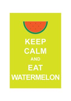 #16: Wildcard - Keep Calm and Eat Watermelon - randomly came across this since working on my #Letsrock @Rockin' Green board. Couldn't resist. :)