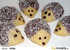 Ježečci z máslového těsta - My site Biscuit, Clem, Czech Recipes, Marshmallows, Christmas Cookies, Doughnut, Sweet Recipes, Nutella, Cookie Recipes