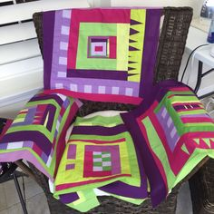 A chair full of wonky blocks by Diane Holman 2015
