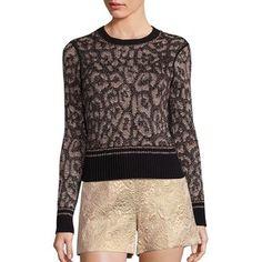 RED Valentino Leopard-Print Sweater