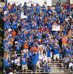 Great display of Bronco pride. Boise State football vs. New Mexico 09/29/2012