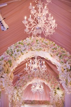 Wedding ● Floral Arch ● Pink I like the floral arch and drapery. Wedding Stage, Wedding Events, Wedding Ceremony, Dream Wedding, Ceremony Arch, Wedding Receptions, Reception Ideas, Floral Wedding, Wedding Colors