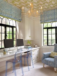 Get inspired to overhaul your home office at HGTV.com. Browse photos of studies that blend stylish design with smart storage space.