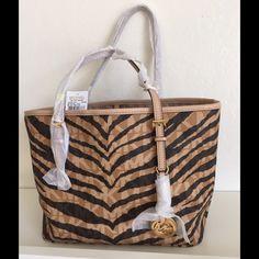 New zebra / tiger print Michael Kors bag Gorgeous bag with tags attached. NO LOWBALLING Michael Kors Bags Shoulder Bags