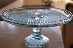Antique Dishes | ... vintage pressed glass cake stand that I picked up at an antique mall