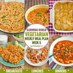 Slimming Eats Vegetarian Weekly Meal Plan – Week 5