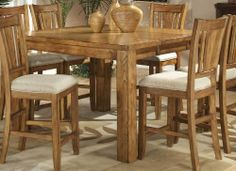 Hillsdale Charleston 5Piece Dining Set With Parson Bar Stools Entrancing Counter Height Dining Room Inspiration
