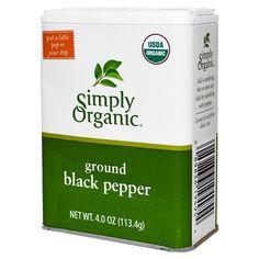 Simply Organic, Ground Black Pepper, 4 oz (113.4 g) - iHerb.com