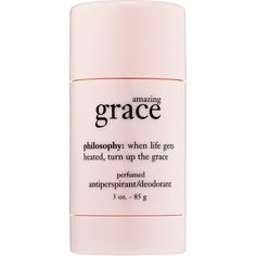 philosophy Amazing Grace Perfumed Déodorant ($18) ❤ liked on Polyvore featuring beauty products, bath & body products, fillers, beauty, makeup, pink fillers, pink, magazine, blossom perfume and philosophy beauty products