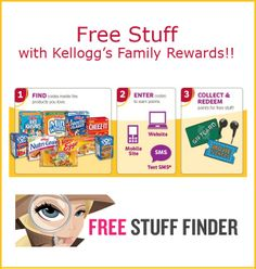 Through April get FREE Kellogg's Family Rewards Points by entering the code below! You can redeem points for FREE gift cards, high-value coupons, prizes, Totally Free Stuff, Top Pay, Redeem Points, Free Samples By Mail, Car Cleaning Hacks, Movie Tickets, Money Savers, Free Gift Cards, Grandchildren