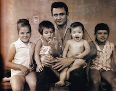 Johnny & his 4 daughters