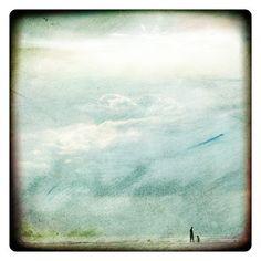 Vagues normandes 3 (Nature Photography - Fine Art Print - Ocean - Sky - Clouds -Figure - Painting - Blue)