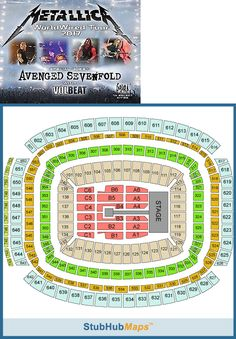 tickets: Metallica Avenged Sevenfold,Volbeat 2 Tickets 6/11/17 Nrg Stadium Sec.103 Row Gg BUY IT NOW ONLY: $900.0