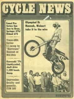 Motocross Bikes, Vintage Motocross, Dirt Bike Magazine, Old School Motorcycles, Mid Ohio, Cycling News, My Youth, Vintage Bikes, Cool Bikes