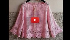 This tutorial will teach you how to make a beautiful chic crochet blouse. This pattern is simply beautiful and will prove to be useful for many works. Crochet Blouse, Crochet Baby Dress Pattern, Crochet Patterns, Easy Crochet, Knit Crochet, Crochet Birds, Crochet Animals, Crochet Granny Square Afghan, Granny Squares
